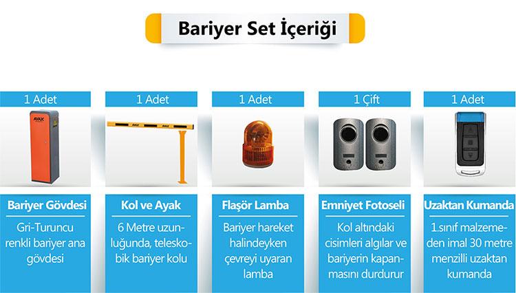 K6 Otopark Bariyeri SET