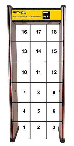 18 zone bölgeli metal kapı dedektörü